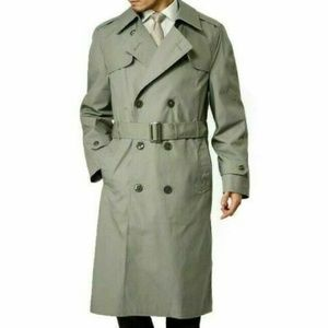 Vintage US Army Olive Green Trench Coat